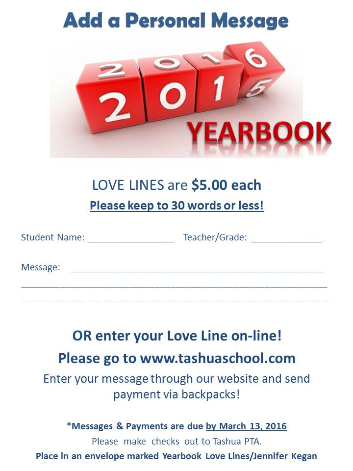 2016 Yearbook Love Lines!