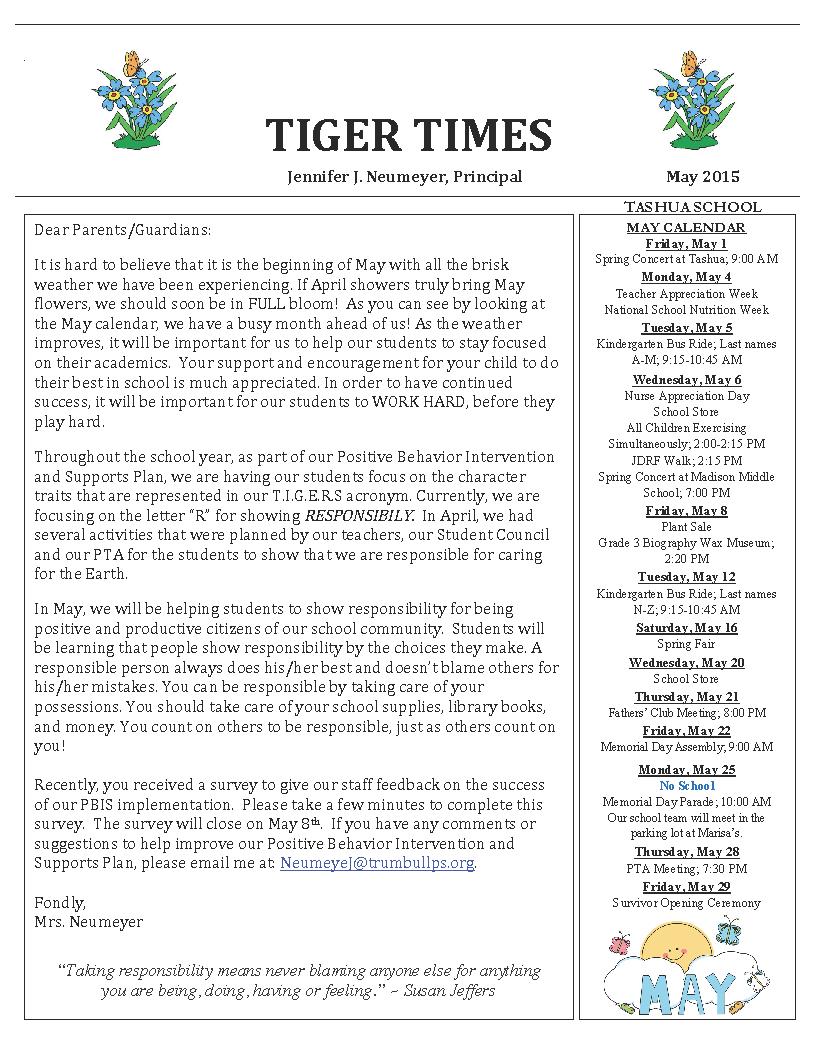 May 2015 Tiger Times