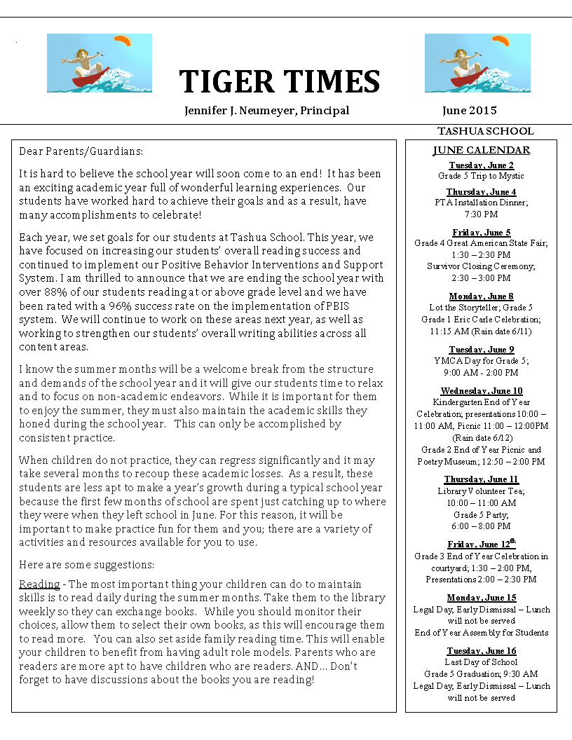 June 2015 Tiger Times