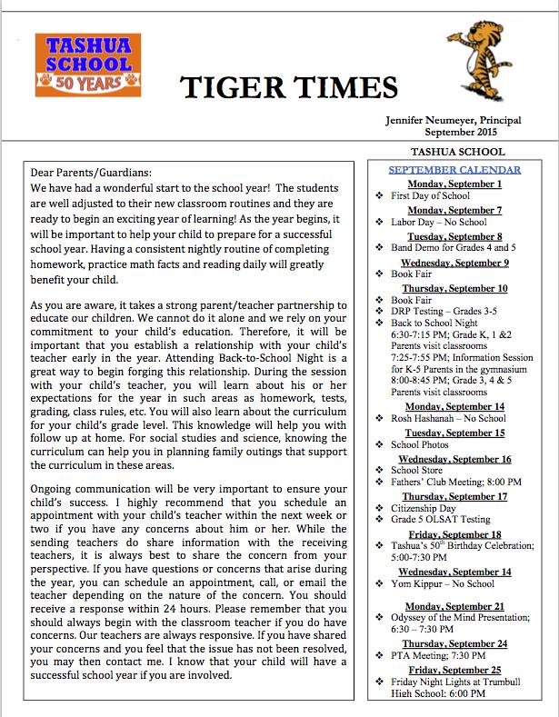 September 2015 Tiger Times