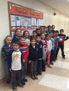 Principal's Proud Board – February 2016