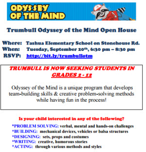 Trumbull Odyssey of the Mind Open House