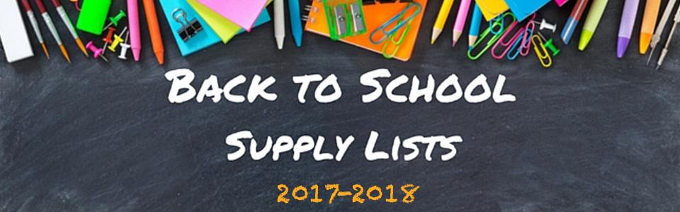 School Supply Lists 2017-18