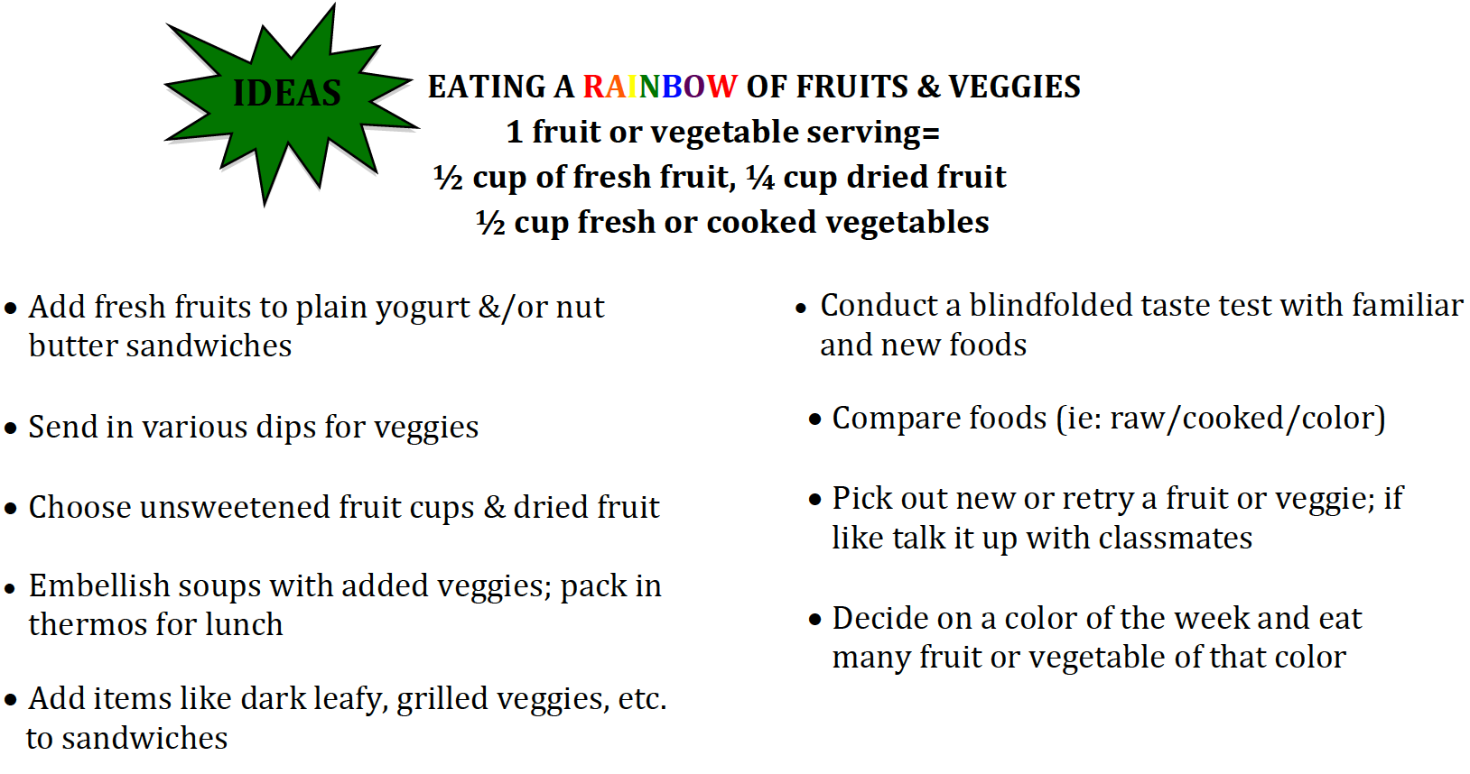 Fruit and Vegetable Challenge