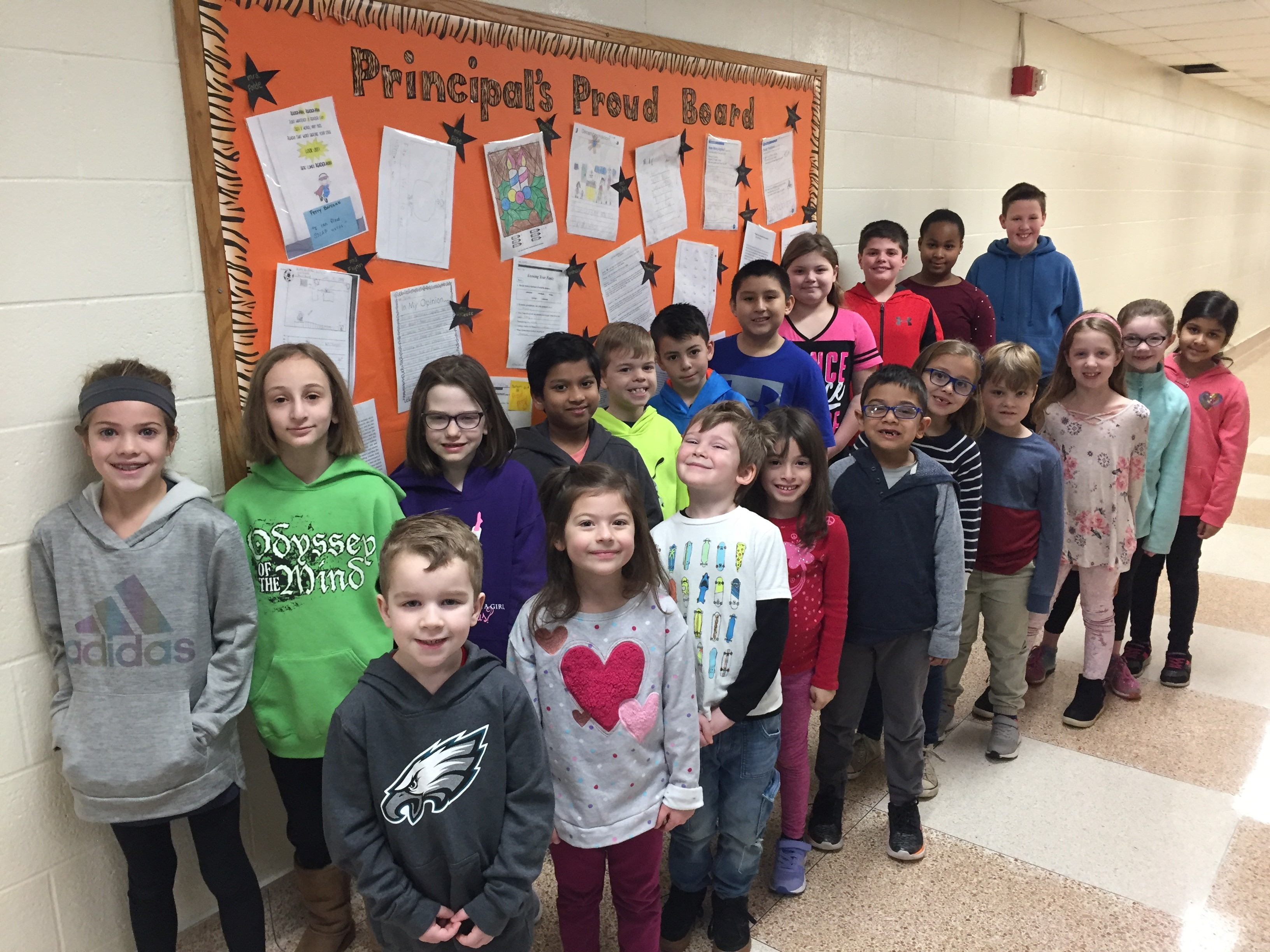 Principal's Proud Board ~ January 2019
