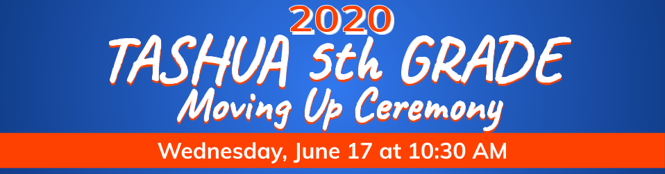 Watch the 5th grade moving up ceremony here on June 17th at 10:30 AM!